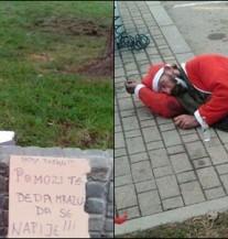 Sjećate li se Djed mraza koji je tražio pomoć da se napije? USPIO JE! (FOTO)